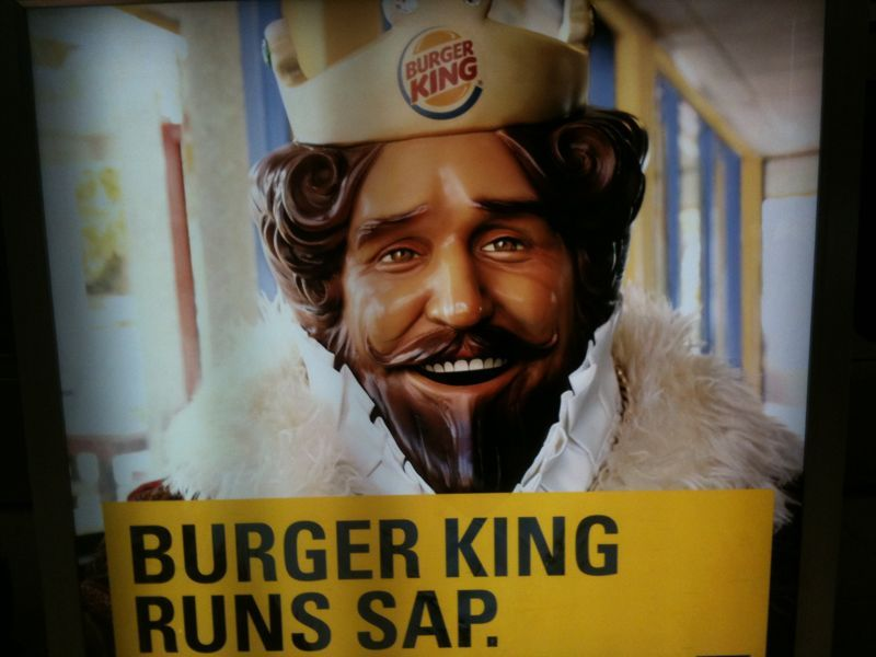 I'm sorry.. I don't want to wake up with the King.. Burger or otherwise.. He's just plain scary.