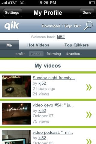 Sunday night freestyle is now up! Head on over to www.qik.com/kj52