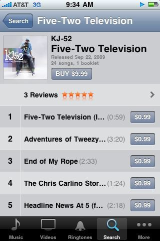 Just saw 52 television on iTunes… It's a beautiful thing! Get a free downloadable mixtape version with purchase. Got it yet?