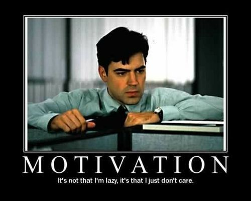 """Good morning tweeples! Here's your demotivational poster of the day courtesy of the movie """"office space"""""""