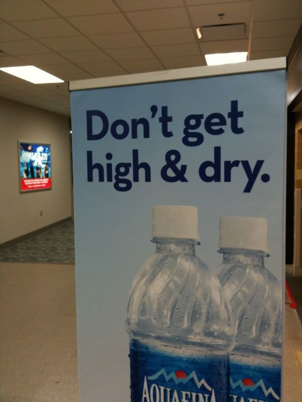"""If being left """"high and dry"""" is a bad thing is being left """"low and soaked"""" a good thing?"""