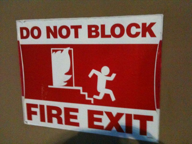How can u block the exit if ur being pursued by a flame leaf and u have no hands or feet?