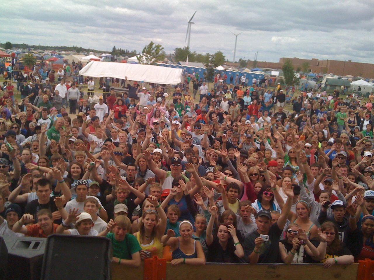 Rocked sonshine fest in Minnesota yesterday.. Actually cut a kids Mohawk off on stage during my freestyle.. Good times!