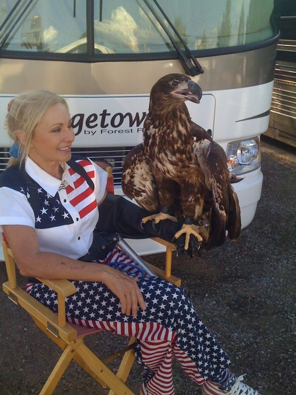 Umm yes there was a full blown eagle outside my trailer and yes I was scared like a lil girl..