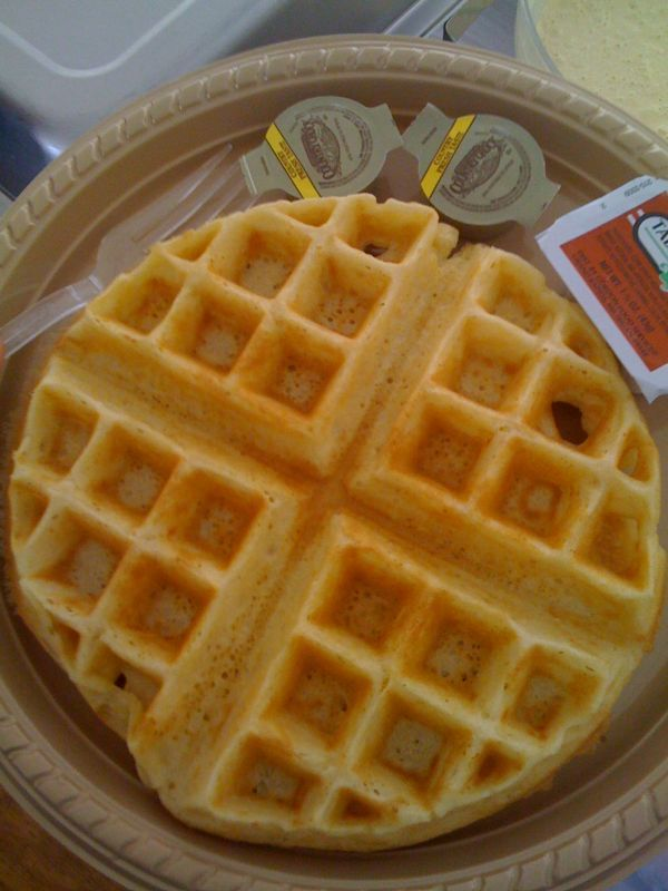 Waffles are physical tangible proof that Jesus loves me :)