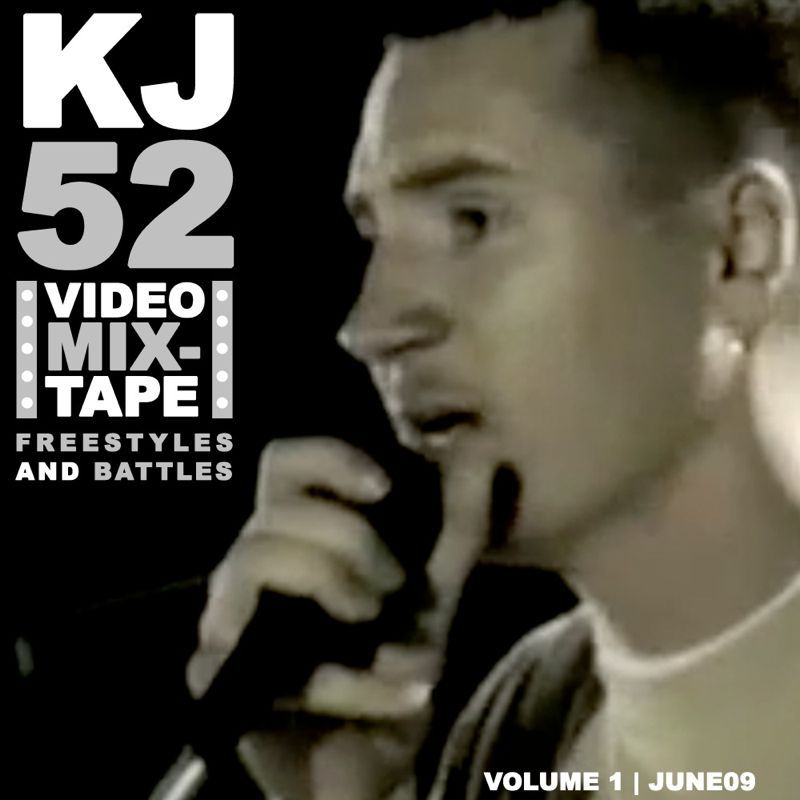 """First ever kj52 video mixtape: """"freestyles and battles"""" dropping Monday June 1st @ www.kj52podcast.comx"""