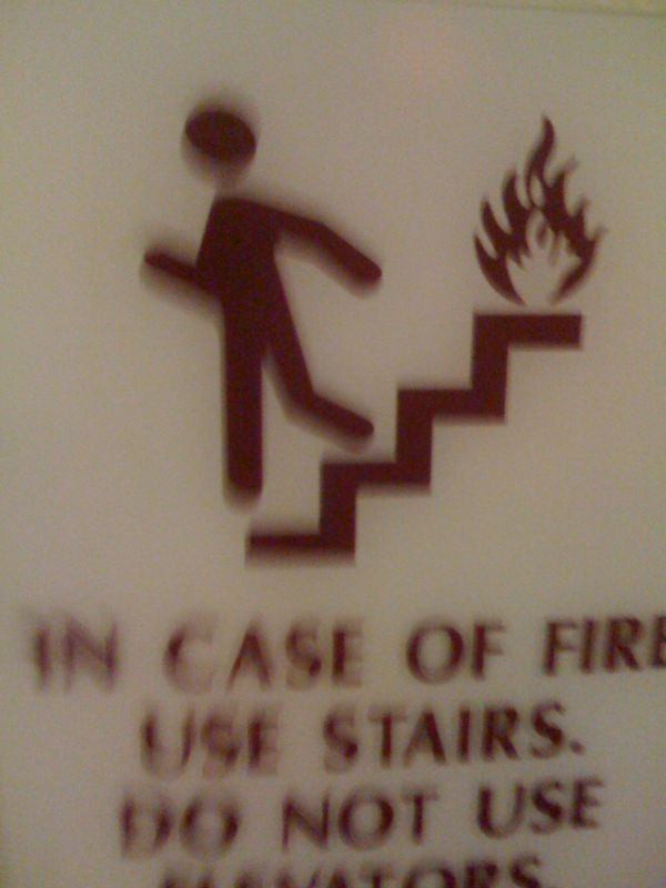 This may be the worst looking stick figure running from a fire puff I've ever seen!!!