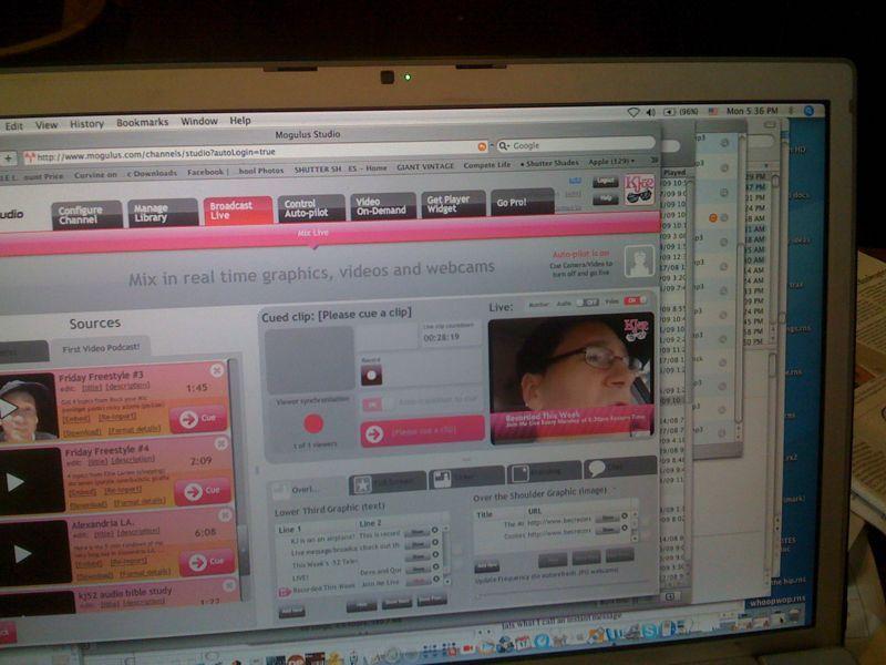 Live video chat with kj @ www.mogulus.com/kj52 @ 830pm est tonight! Hit me up..