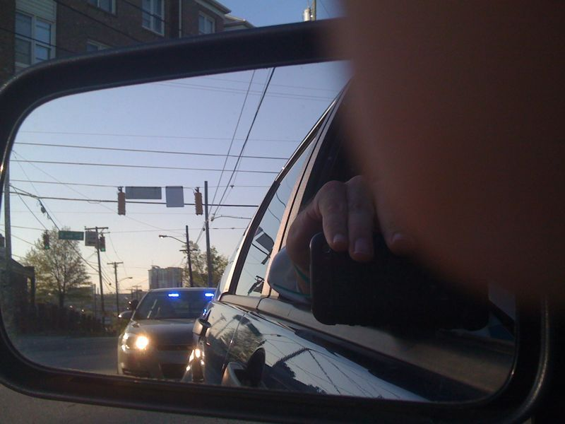 I just got pulled over for making an illegal right turn! I'm an idiot cuz I didn't see it..