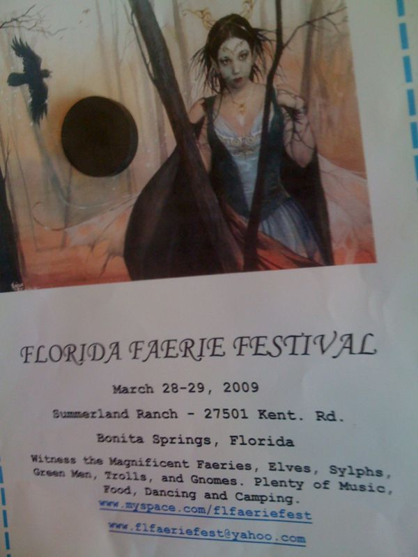 I'm sorry but an entire festival dedicated to faeries, gnomes and elves just makes me nervous.. See the real poster pic..