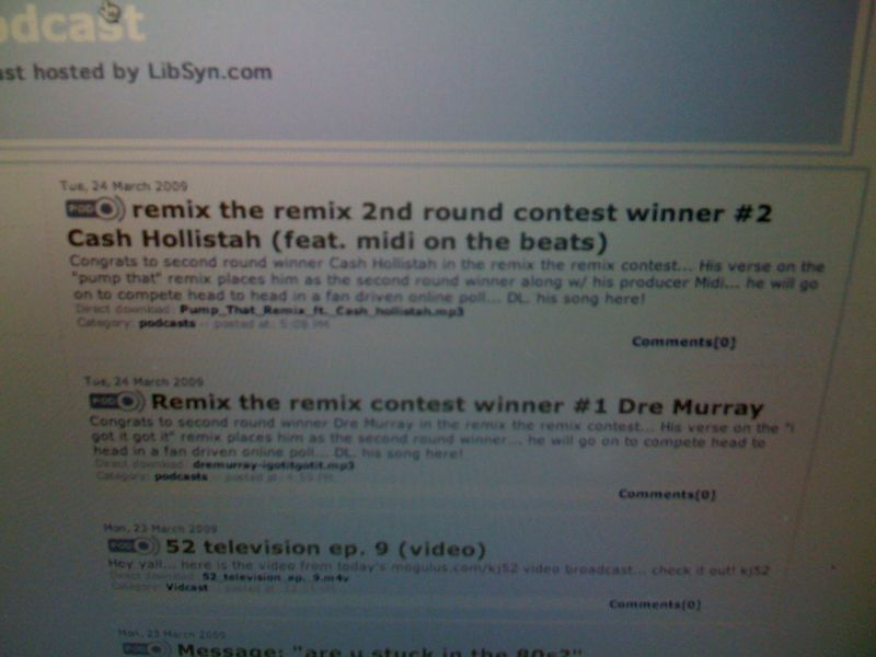 2nd round winners of the remix the remix contest: cash hollistah + Dre Murray dl songs @ www.tweezyblog.com