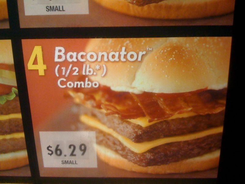 Do we really need this much bacon in life? I'm gonna order a baconator hold the bacon..