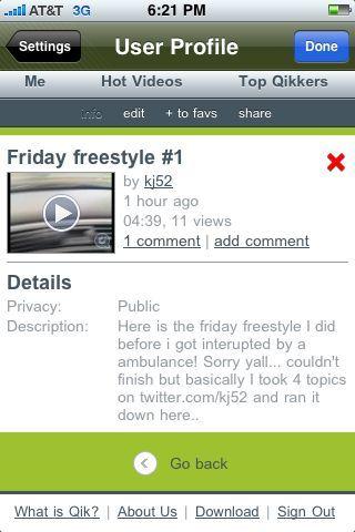 Friday freestyle is up! An ambulance made me stop but u get the idea.. Www.Qik.com/kj52