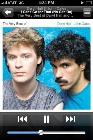 Someday I will be as cool as daryl hall.. But I will NEVER have the moustache of jon Oates..