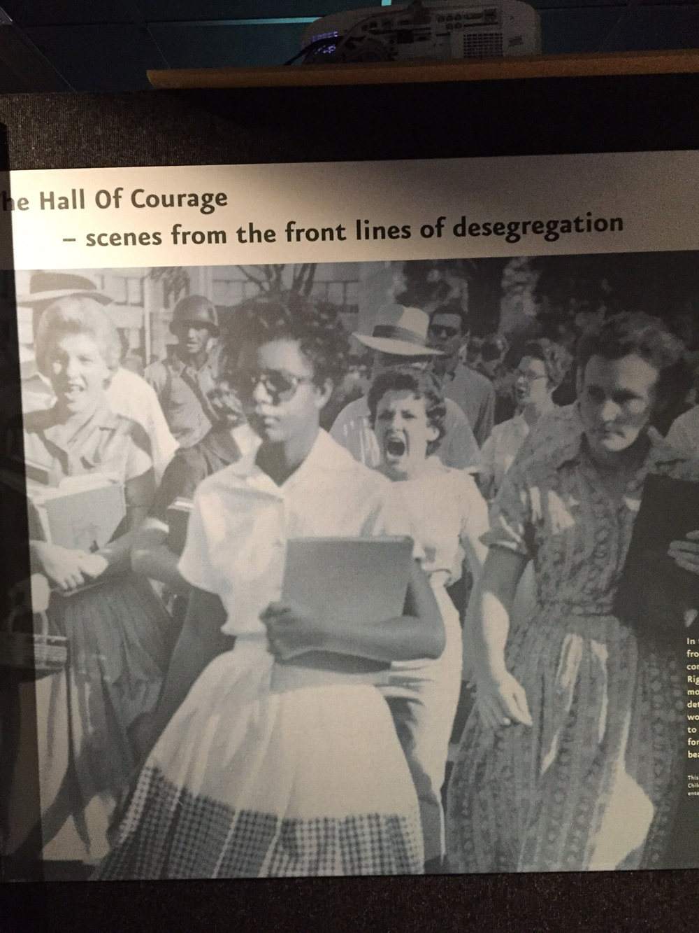 Image from the desegregation of Univ of Alabama