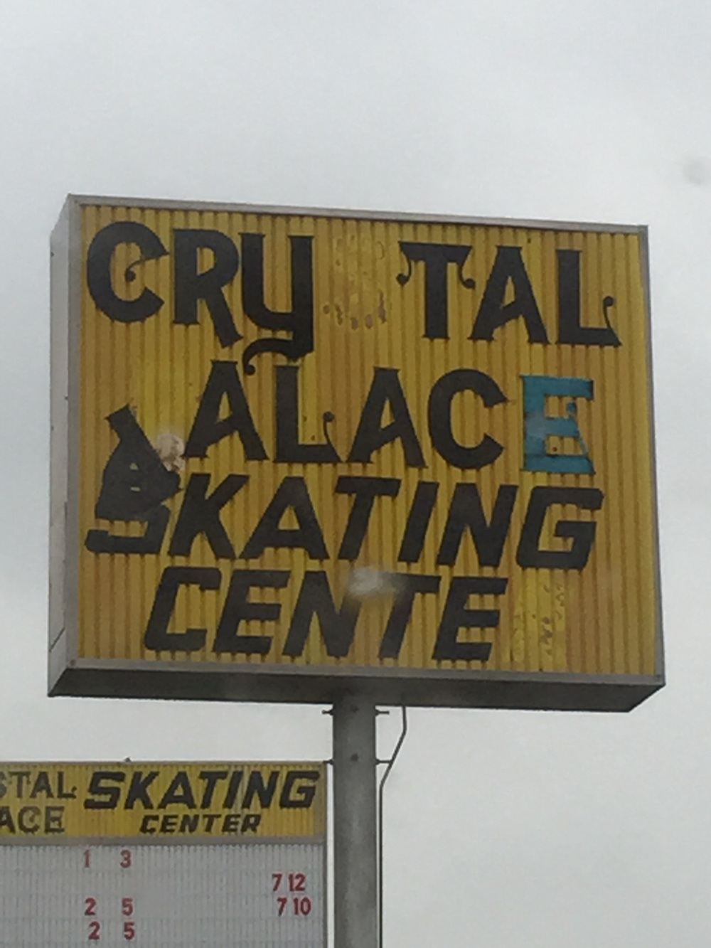 """""""cry tall Alice skating center"""" ? I think that's what they were trying to say.."""