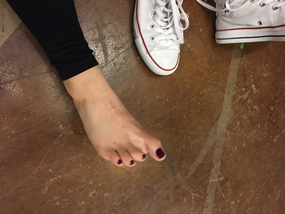 She said she had nine toes I didn't believe her..
