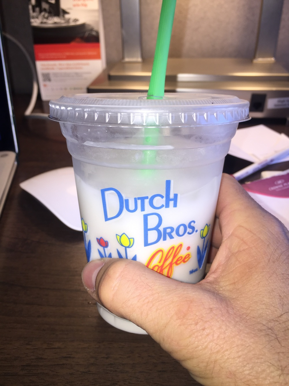 First time having Dutch bros white coffee