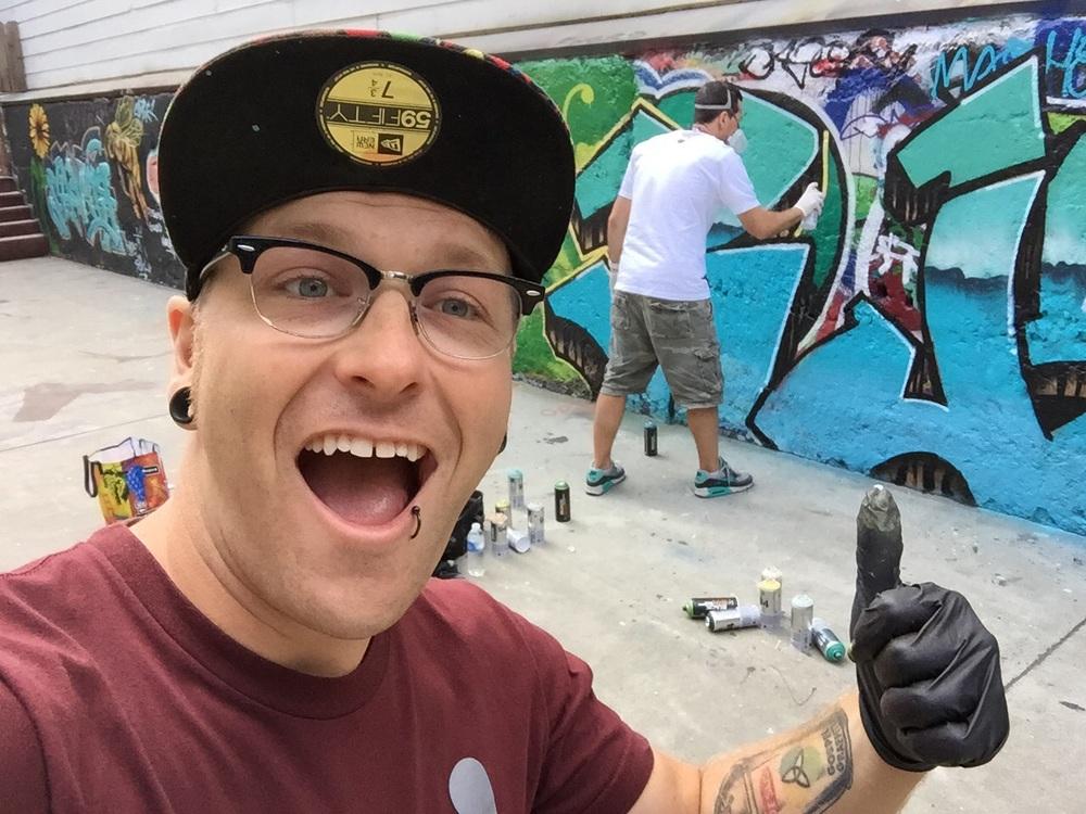 Winner of this years street art throw down Camer1