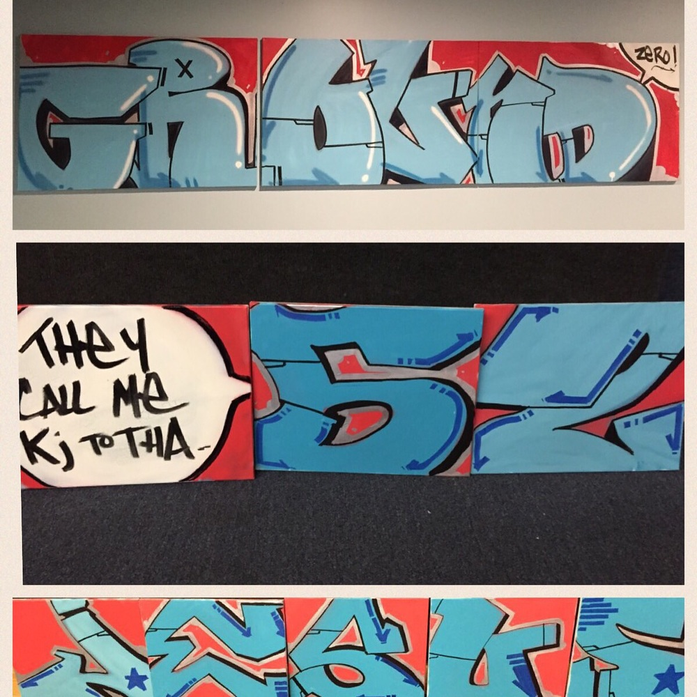 Graff pieces I worked on