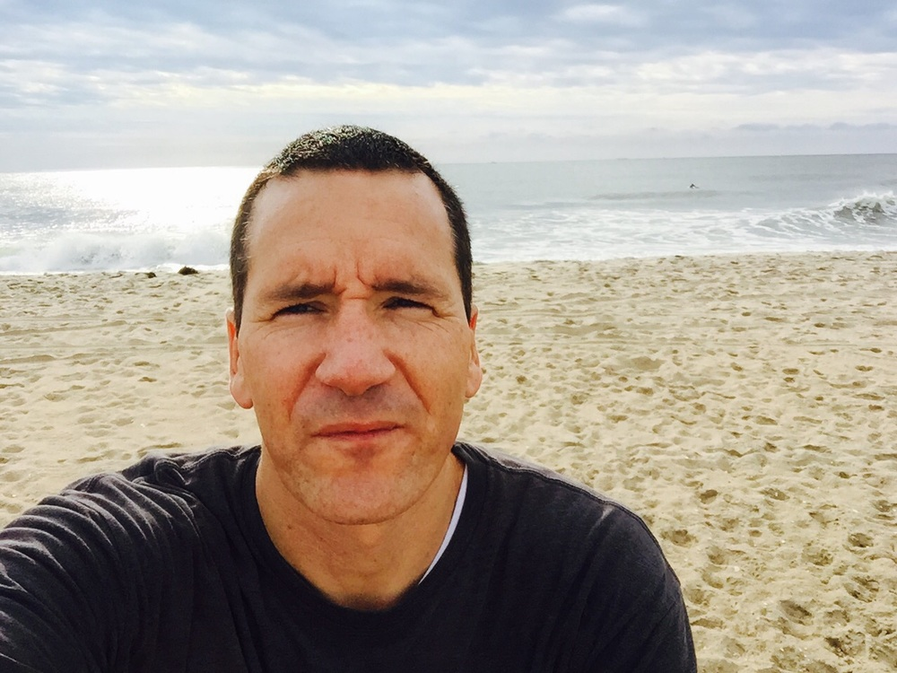 Beach workout selfie = bwelfie