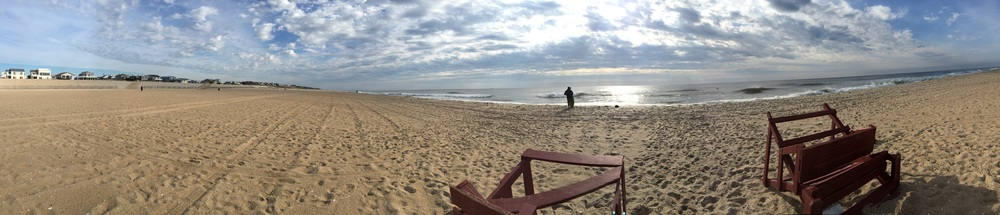 Panoramic beach shot of the jersey shore makes me want gym tan laundry for some reason