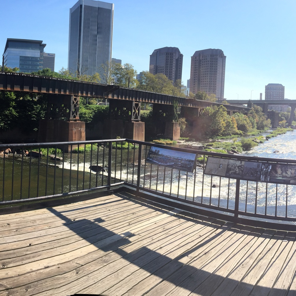 Morning run .. Downtown Richmond is gorgeous