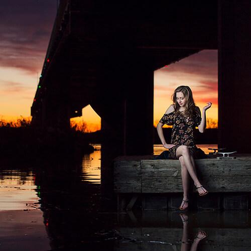 sunset senior picture