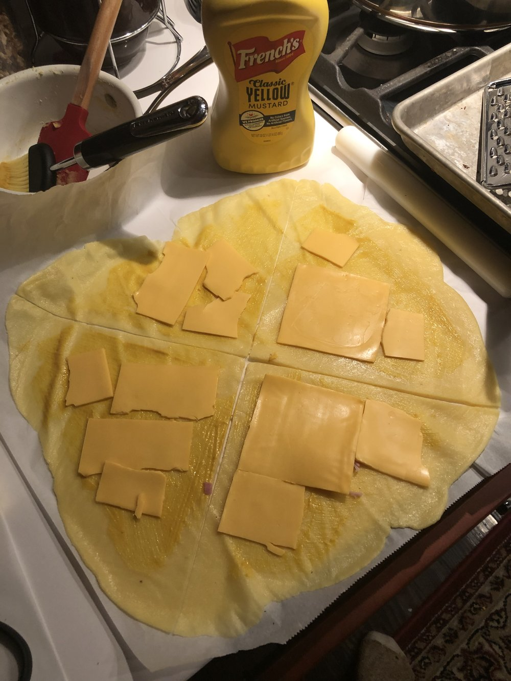 now here's when all the strict Keto followers will probably get grossed out. Yep, it's American cheese! As least it's not KRAFT! It just melts too well and hey, no carbs! (Just orange dye no. 5)
