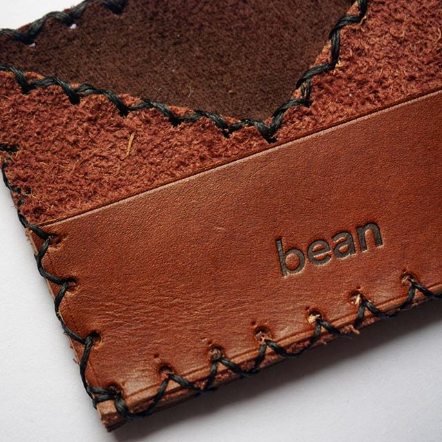 Only gets softer and better with wear 🖤 Get your own unique wallet at whoabean.com #leathercraft #bean #handmade #sfartist #shopsmall