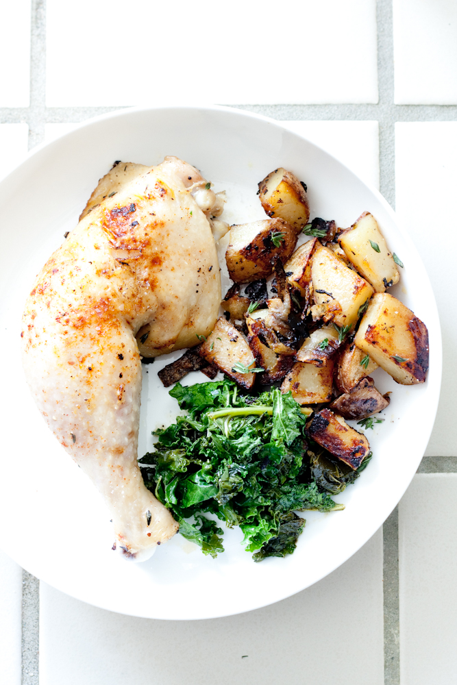 one pan chicken + potatoes
