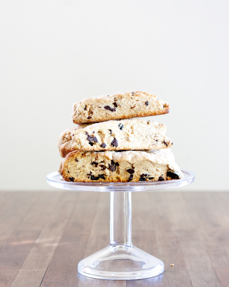 cherry, chocolate + almond scones