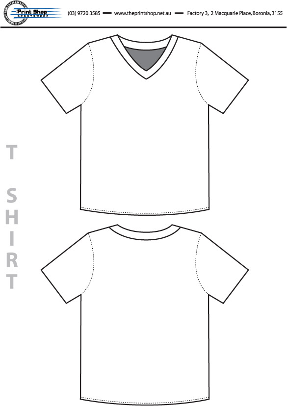 The Print Shop Volleyball Top Template