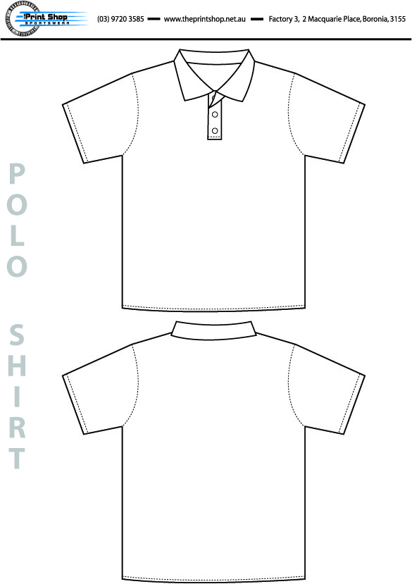 The Print Shop Polo Shirt Template