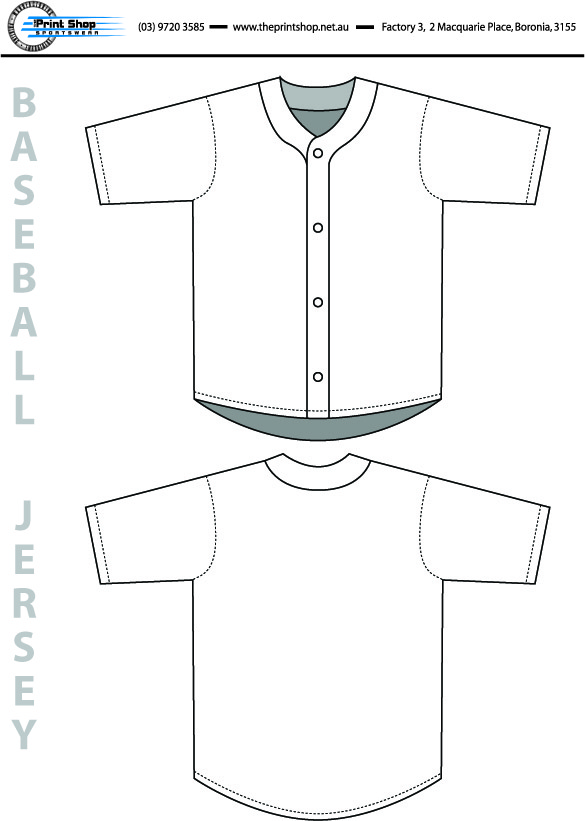 The Print Shop Baseball Jersey Template