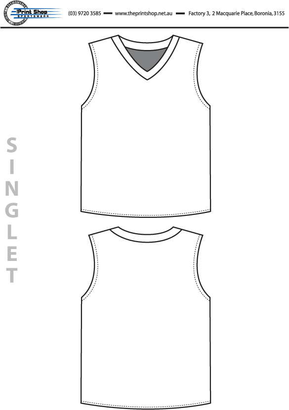 The Print Shop Singlet Template
