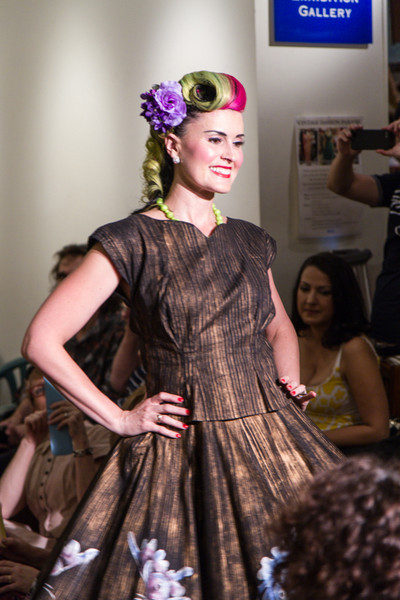 Me on the catwalk again in a gorgeous 50s set from Nina's Vintage Closet & flowers from Bluebellevintage