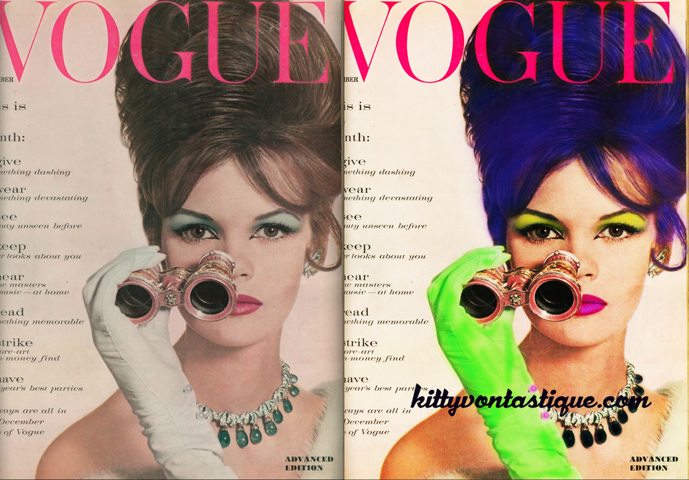 Vintage Vogue - Reimagined with a purple haired rockabilly gal on the cover