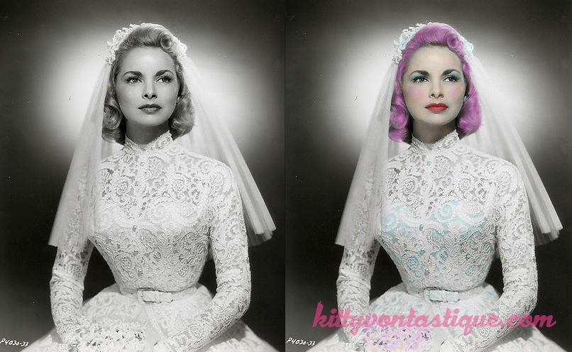 Janet Leigh - Reimagined with pink hair and a sneaky blue bustier