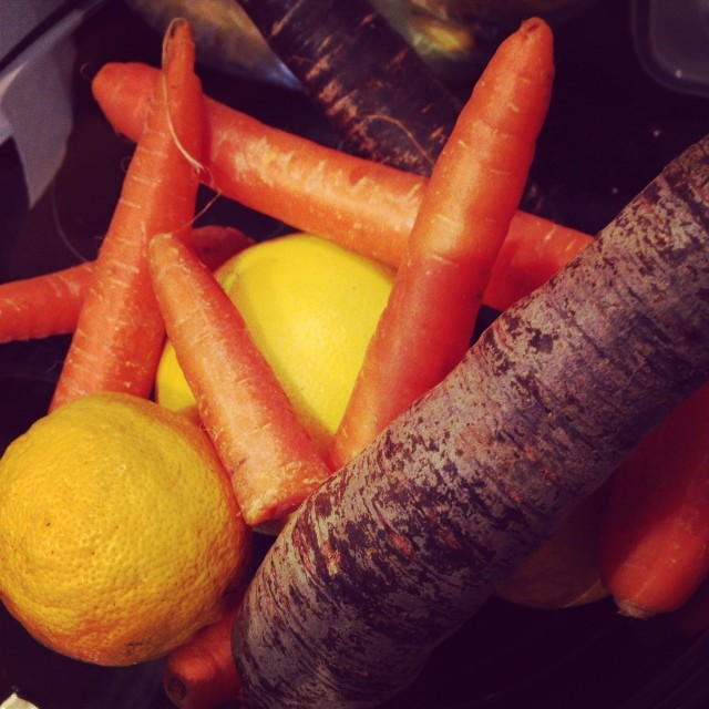 Lovely organic veg from Field To Feast. These are the carrots I used in my soup.