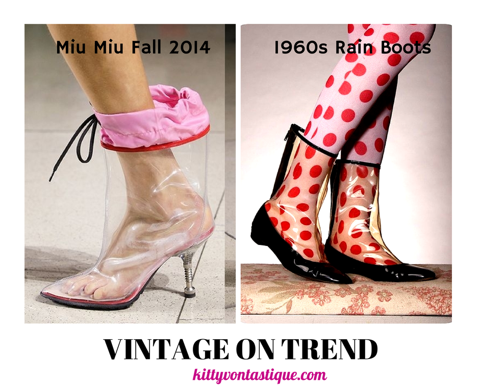 Miu Miu Fall 2014 vs Vintage 1960s Rain Boots