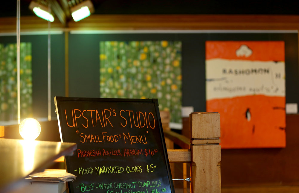 Palette's upstairs studio is home to changing art exhibitions.