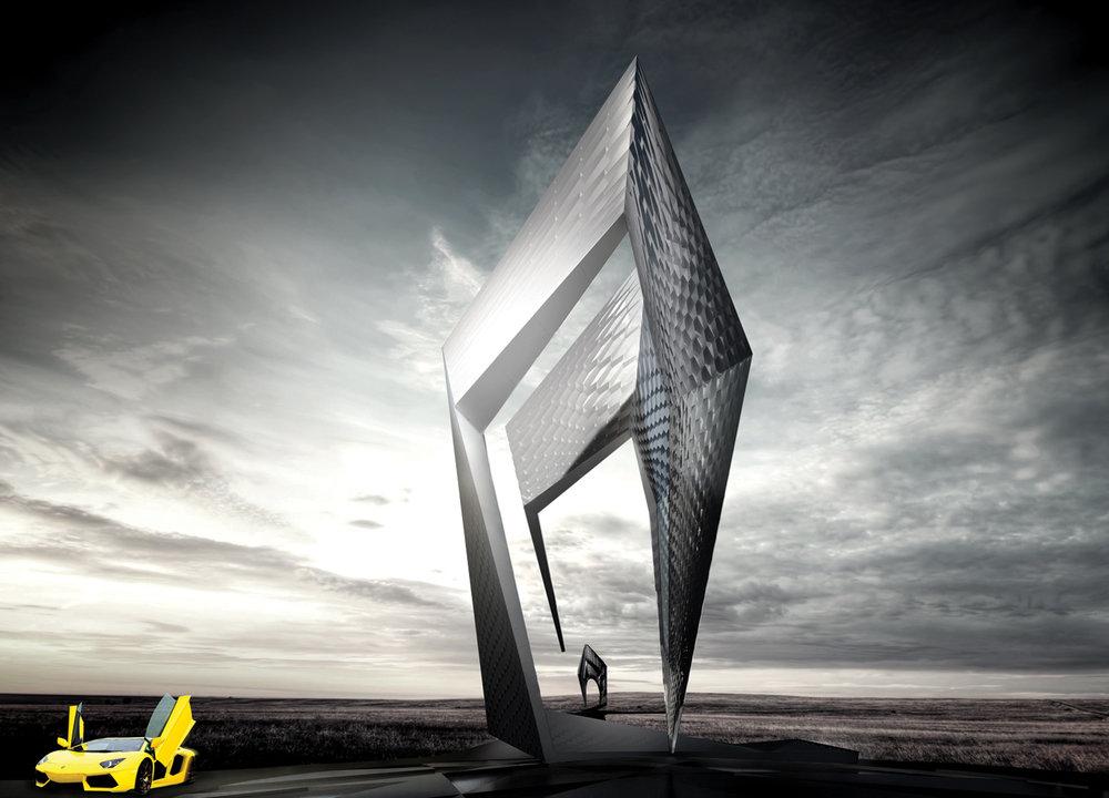 Monument - Lamborghini Road Monument, San Agata, Italy