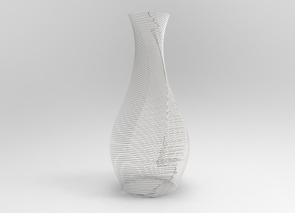 Perforated vases, Berlin, Germany
