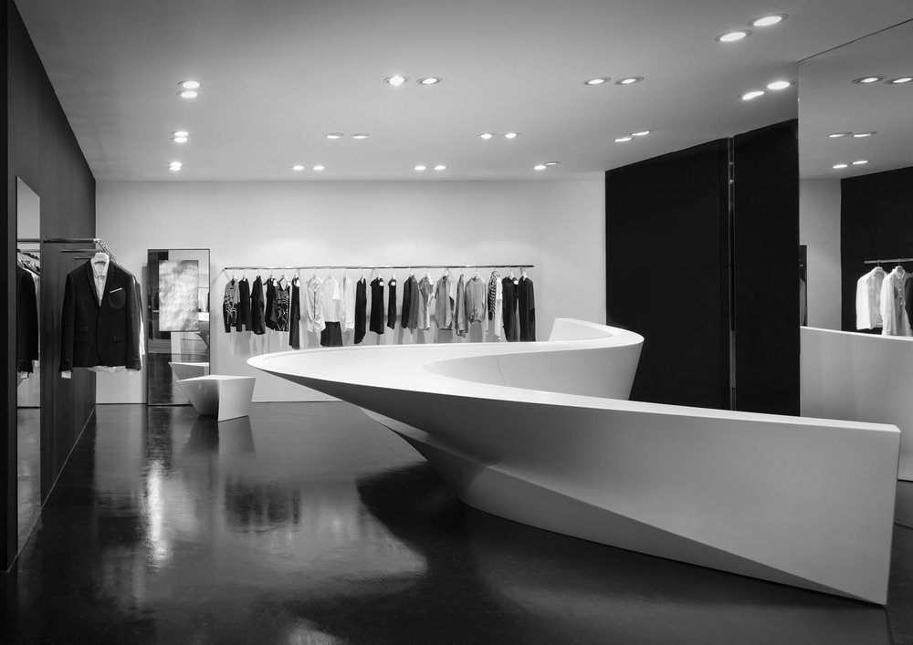 Retail - furniture - Neil Barrett SIS, worldwide @ Zaha Hadid Architects