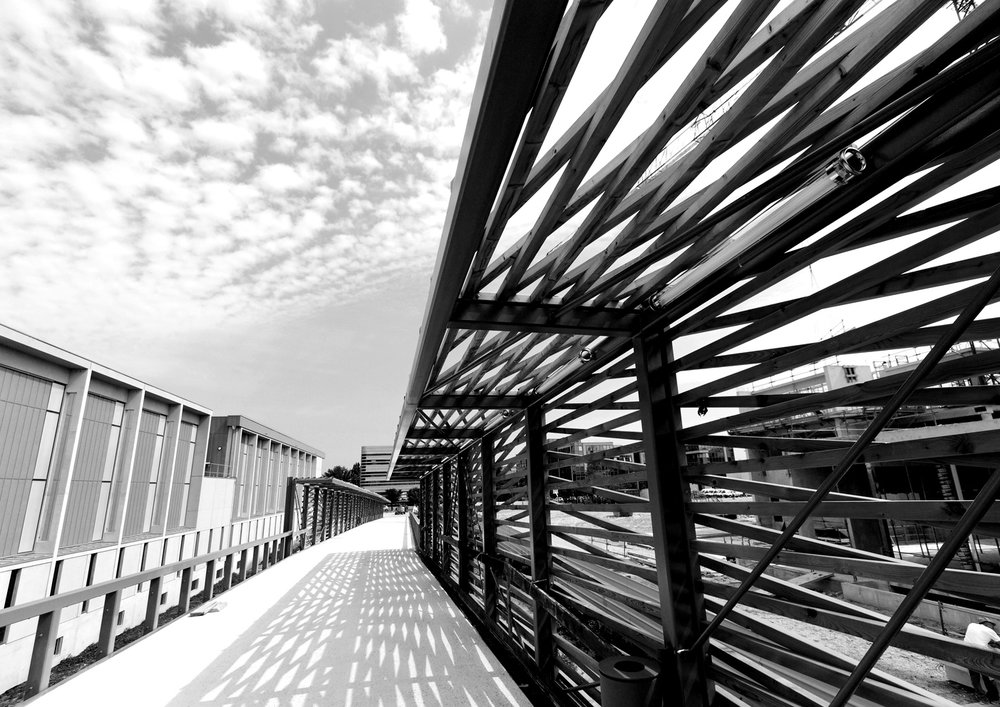 Infrastructure - Footbridge, Reuil Malmaison, France @ HDA Hugh Dutton Associates