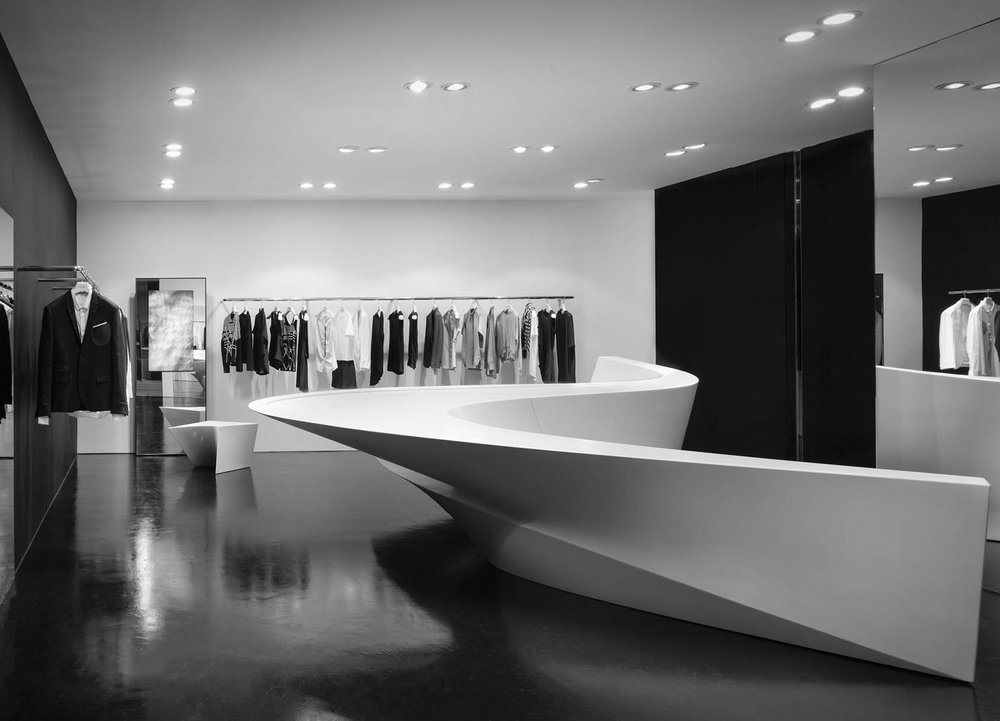 Zaha Hadid Architects, Neil Barrett Shop in Shop, Locations worldwide (2008 – 2015)