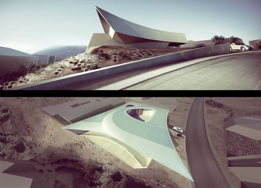 Zaha Hadid Architects, California Villa, Private Residence, San Diego, USA (2009 – 2011)