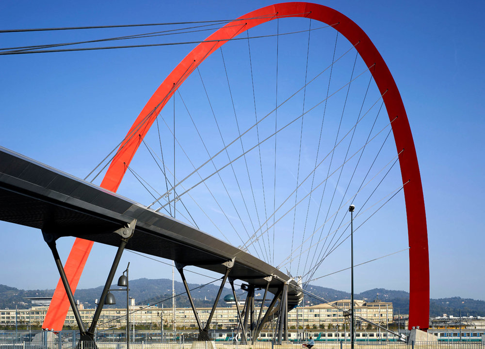 Footbridge for the 2006 Winter Olympic Games, Torino, Italy,Architects and Engineers HDA