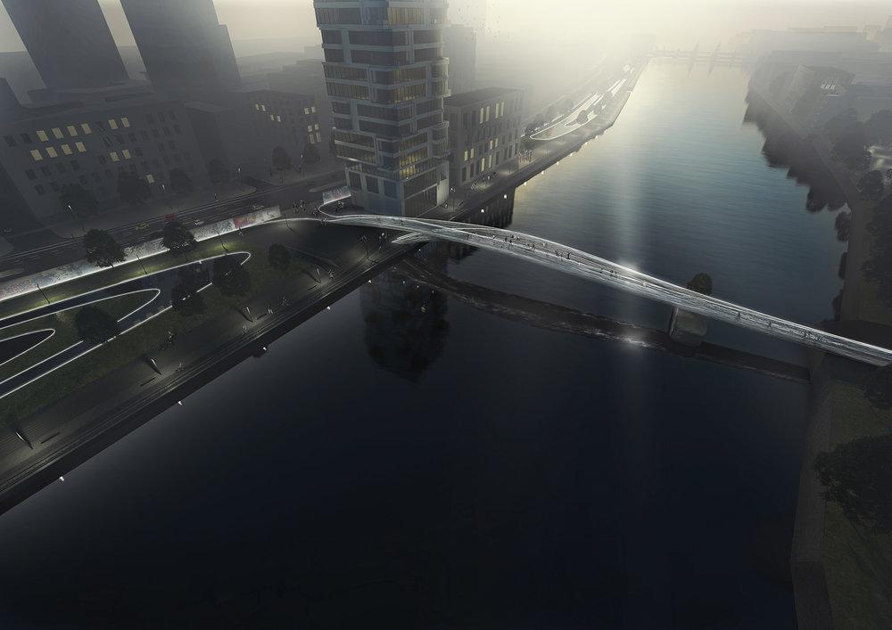 Brommy New Footbridge, Flowing bridge Berlin, Nicolas Sterling, Elke Sterling Presser, SPANS, ns_spans, spansassociates, Architects, Engineers.jpg